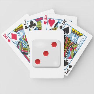 Rollo de 3 dados baraja de cartas