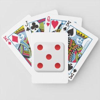 Rollo de 5 dados baraja de cartas