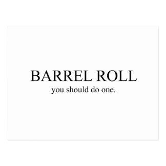 Rollo de barril 1 postal