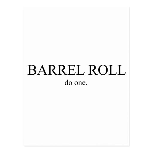 Rollo de barril 2 postal