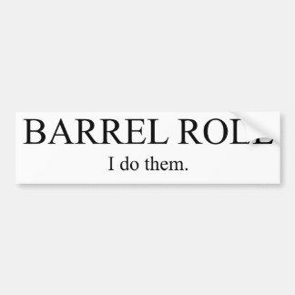 Rollo de barril 3 pegatina de parachoque