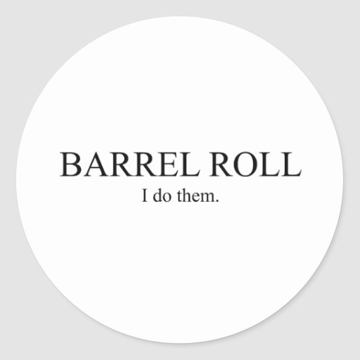 Rollo de barril 3 pegatina redonda