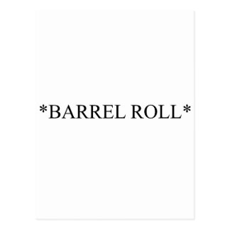 Rollo de barril 6 postal