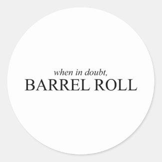 Rollo de barril 7 pegatina redonda