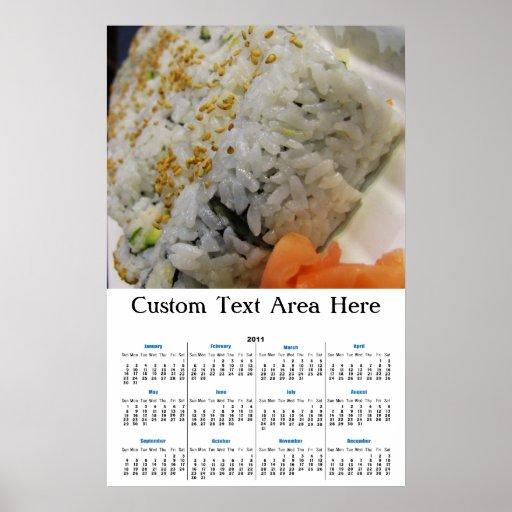 Rollo de California - sushi vegetariano Posters