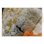 Rollo de California - sushi vegetariano Tarjeta De Felicitación