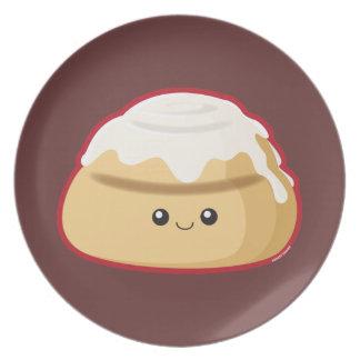 Rollo de canela plato de comida