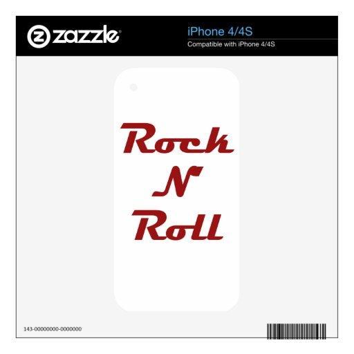 Rollo de la roca N Calcomanías Para iPhone 4
