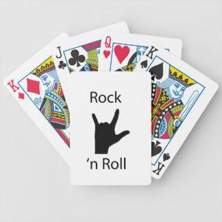 Rollo de la roca n cartas de juego