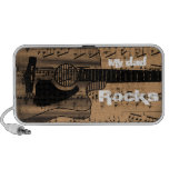 Rollo de la roca N de la partitura del vintage iPhone Altavoces