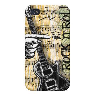 Rollo de la roca N de la partitura del vintage iPhone 4/4S Carcasas