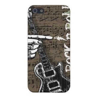 Rollo de la roca N de la partitura del vintage iPhone 5 Protectores