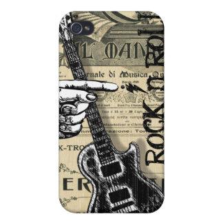 Rollo de la roca N de la partitura del vintage iPhone 4 Protector