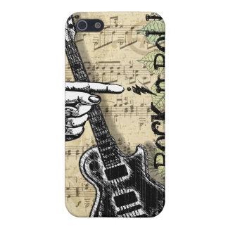 Rollo de la roca N de la partitura del vintage iPhone 5 Cárcasas