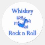 Rollo de la roca n del whisky etiquetas redondas