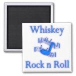Rollo de la roca n del whisky iman de nevera