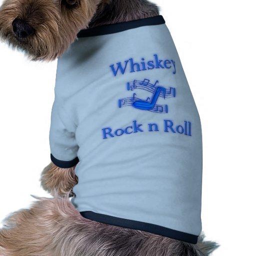 Rollo de la roca n del whisky ropa de perro