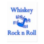 Rollo de la roca n del whisky tarjeta postal