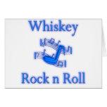 Rollo de la roca n del whisky tarjeton