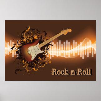 Rollo de la roca N - música Póster