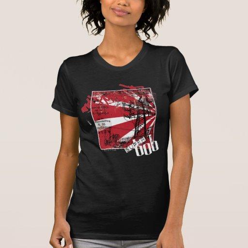 Rollo de la roca n para mujer camiseta