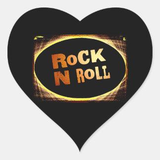 Rollo de la roca N Pegatina En Forma De Corazón