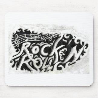 Rollo de la roca n tapete de ratones