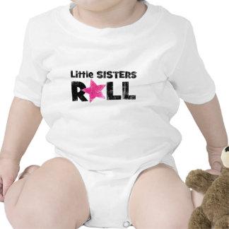 Rollo de las pequeñas hermanas traje de bebé