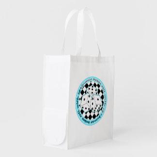 Rollo de los bebés de Bunco con él - azul Bolsa Reutilizable