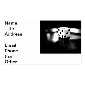 Rollo de los dados tarjetas de visita