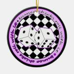 Rollo de los polluelos de Bunco con él púrpura - u Adorno De Reyes