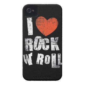 Rollo de N de la roca del amor iPhone 4 Case-Mate Cárcasa