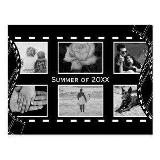 Rollo de película blanco y negro postales