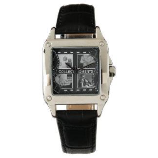 Rollo de película blanco y negro reloj