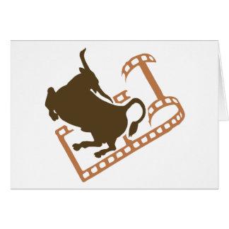 Rollo de película Bucking de Bull Tarjeta De Felicitación
