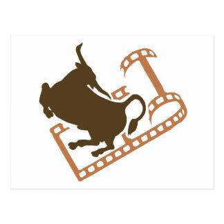 Rollo de película Bucking de Bull Tarjeta Postal