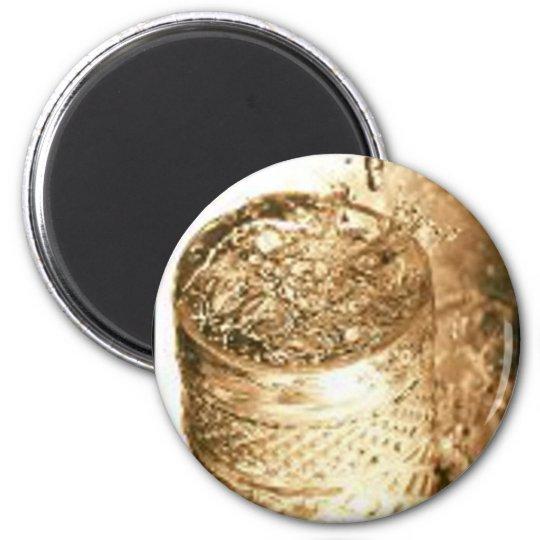 Rollo de película de la bebida imán redondo 5 cm