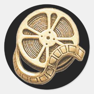 Rollo de película del oro del OPUS Etiqueta Redonda