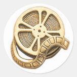 Rollo de película del oro del OPUS Pegatina Redonda