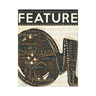 Rollo de película del vintage impresiones en lona estiradas