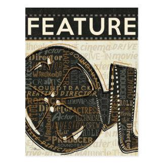 Rollo de película del vintage postales