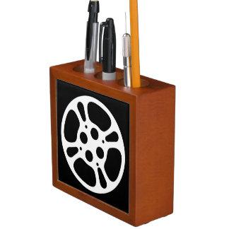 Rollo de película/organizador del escritorio del portalápices