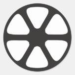 Rollo de película pegatina redonda