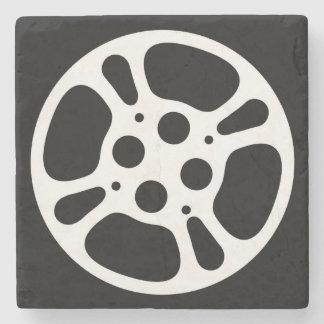Rollo de película/práctico de costa de la piedra posavasos de piedra