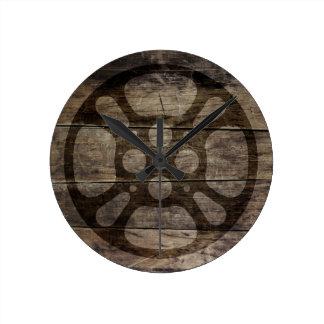 Rollo de película/reloj de madera del carrete de reloj redondo mediano