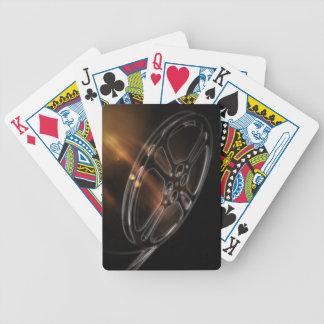 Rollo de película video fresco de la producción baraja de cartas