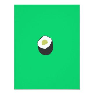"""Rollo de sushi invitación 4.25"""" x 5.5"""""""