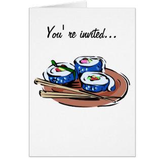 Rollo de sushi tarjeta de felicitación