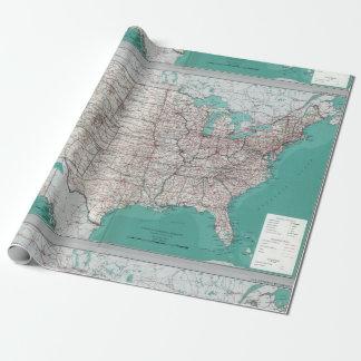 Rollo decorativo del mapa de camino de Estados