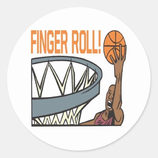 Rollo del dedo etiqueta redonda